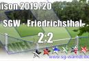 D2 Remis gegen Friedrichsthal!